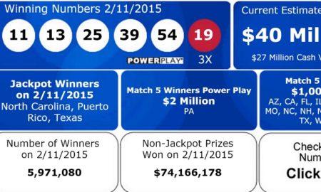 $564 Million Jackpot Winners