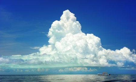 brigher ocean clouds