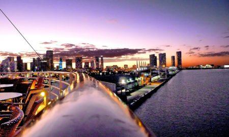 Miami Beach Sunset Skyline
