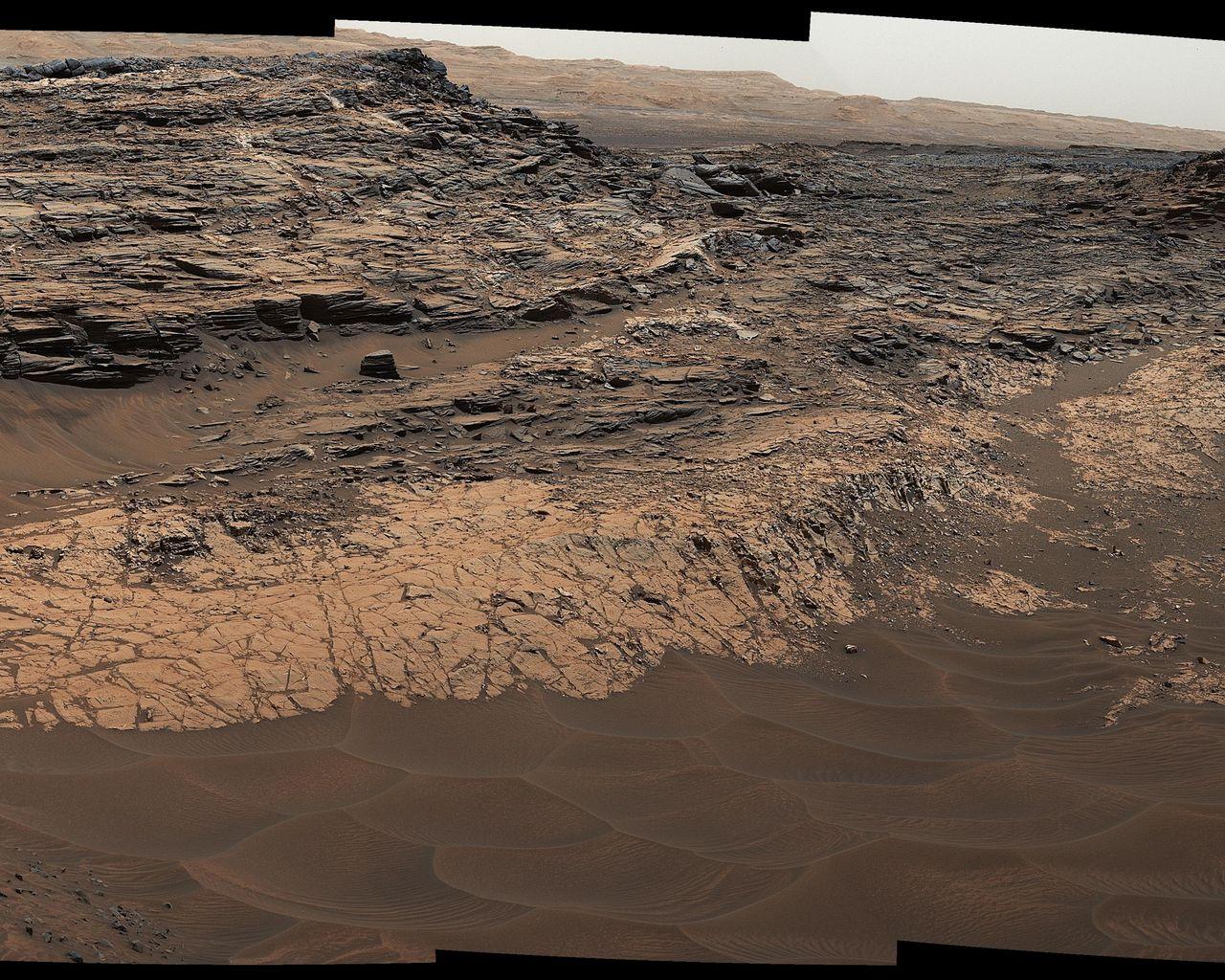 Marias Pass On Mars