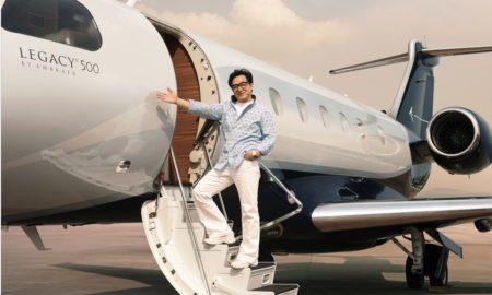 Jackie Chan's Embraer Legacy 500