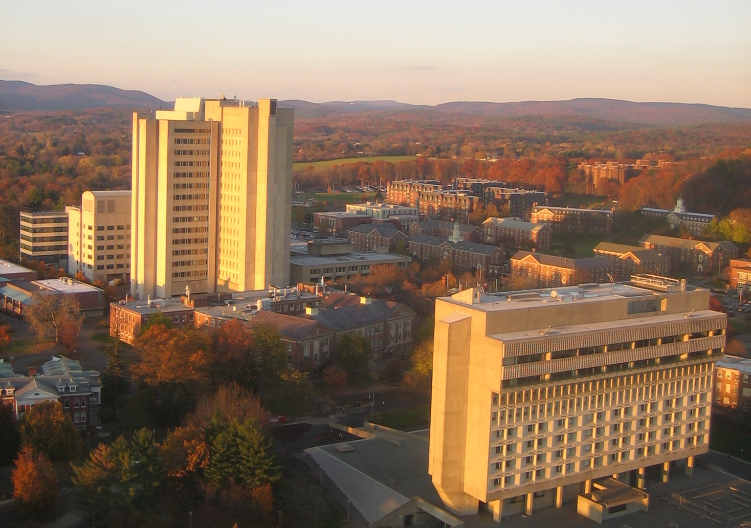 Umass Amherst Campus Photo